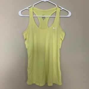 Nike Yellow Cutout Sport Tank Top